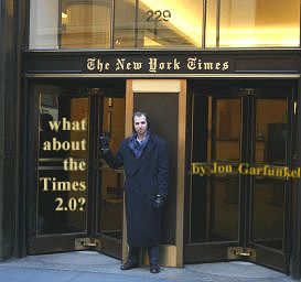 Me in front of NYT HQ